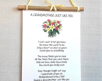 Gift for Grandmother - Personalized poem print - Grandparents gift from Grandchildren - Nana gift - Grandma Gift - Mothers Day - Wall art