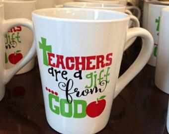 Teachers are a Gift From God Decal,teacher gift,monogram decal,yeti decal,teacher yeti,back to school,teacher appreciation,tumbler decal