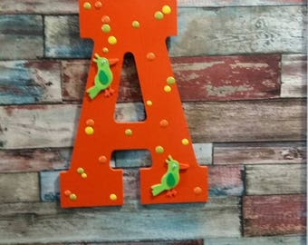 Home Decor Wooden Letter A  , Wall Decor  A , Living Room Decor A ,  Nursery Decor Letter A   , Kids Room Decor Letter A  , Wooden Letter A