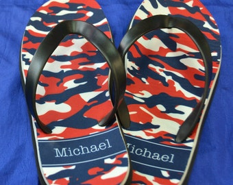 Men's Personalized Flip Flops