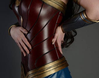 MADE TO ORDER Wonder Woman Costume Cosplay Corset Skirt Bracer Armor Female Bracelet Superhero Gauntlets Dawn Of Justice Costume