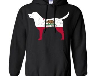 Labador Retriever Hoodie, Labador Hoodie, Retriever Hoodie, California State Flag Hoodie,Labador Retiever Shirt, Labador Sweatshirt