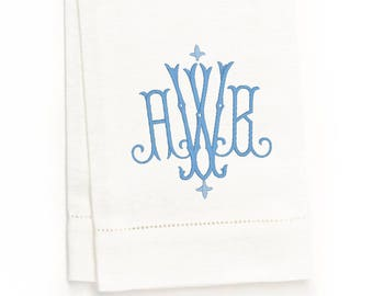 Hemstitch Guest Towel, White