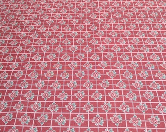 Tour de Fleurs-Pink Cotton Fabric from Henry Glass