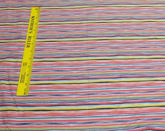 Rainbow Striped Cotton Fabric