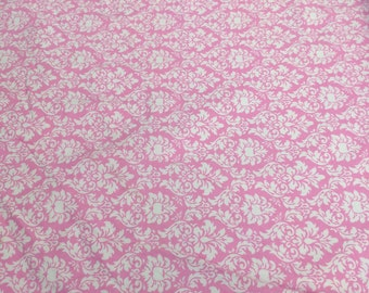 Pink Petite Dandy Damask Cotton Flannel Fabric from Michael Miller Fabrics