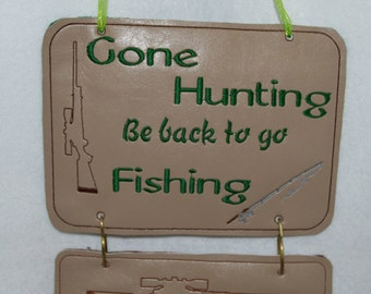 Gone Hunting Mix and Match Sign