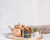 No.3 - Amber Noir - 9oz Pure Soy Wax Candle in Amber Jar with Lid