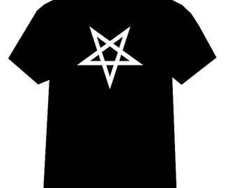 Pentagram shirt, Pentagram tshirt, Satanic tshirt, Satan, Occult Clothing, Pentagram, Black Metal, Satanic Clothing, Inverted Cross, Satanic
