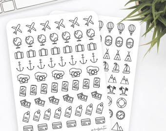 Travel Stickers   Icon Stickers   Planner Stickers   Bullet Journal Stickers