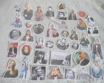 kurt cobain //  40pc sticker pack