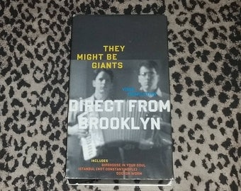 """They Might Be Giants """"Direct From Brooklyn"""" [VHS] Ar Rock Music Band Related VHS Tape rare 90s Alt Rock Related Vhs Tape"""