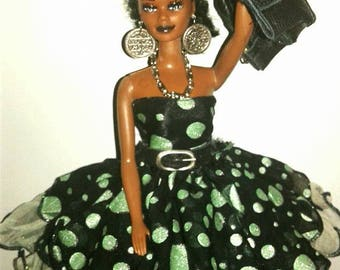 ROCKER AA barbie doll with natural kinky hair