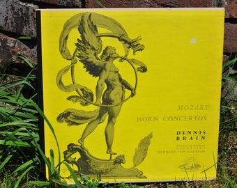 Yellow Decor, Mozart, Horn Concertos, Vinyl Record, Art Nouveau, Artwork, Interesting, Collectible