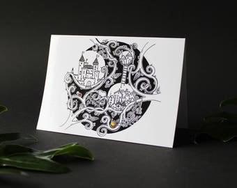 Tangled Town - Greeting Card - Blank Card - Magical - Fairy Tale - Nursery - Design