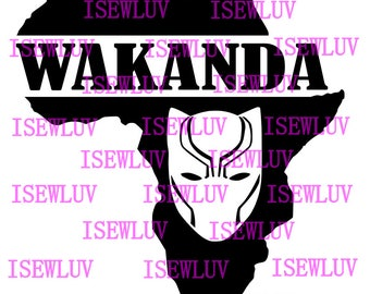 Wakanda African Black Panther SVG File