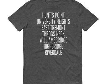 Bronx Neighborhood Shirt, Bronx Neighborhood TShirt, Christmas Gift, Gift for Him, Gift for Her, Gift for Friend, New York City