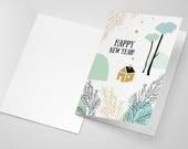 Printable, Carte de Voeux à Imprimer, Meilleurs voeux, Bonne année, Happy New Year, Best wishes, carte à télécharger, papeterie, fêtes, Noël