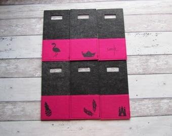 Filz-Handyladetasche pink von Frollein KarLa