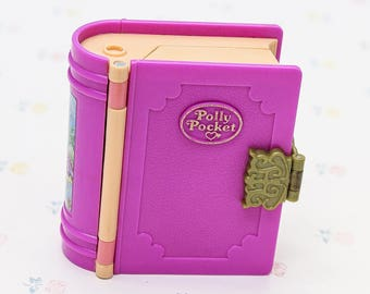 1990s Polly Pocket Glitter Island Storybook Compact, Vintage Polly Pocket Toy for Girl, Daughter Gift for Little Girl, Polly Pocket Compact