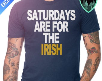 Official Saturdays are for the Irish Notre Dame Shirt, Notre Dame Football, Notre Dame Shirt, Notre Dame Gift, Notre Dame Football Gift