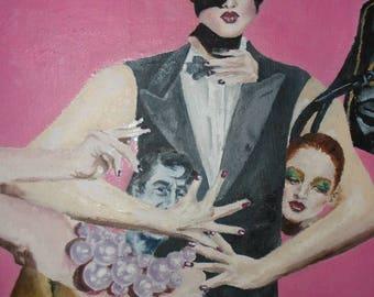 Pop Culture Collage - ORIGINAL Oil Painting