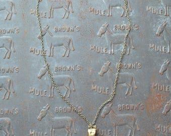 Single Bullet Casing Necklace