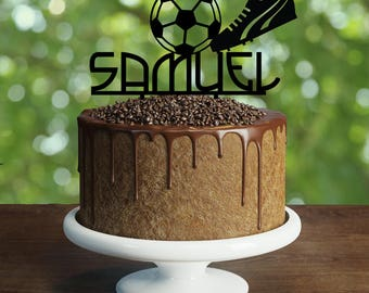 Soccer cake Topper, Customizable soccer cake topper, soccer party, party decorations, kids birthday decorations, cake topper, birthday Gift