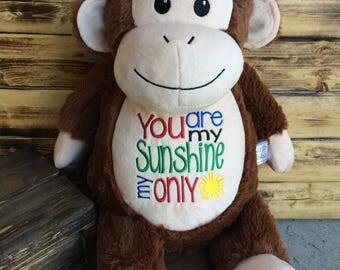 Personalized Stuffed Animal, Monkey