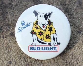 Vintage Spuds Mackenzie Button Pin 1987