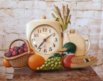 Burwood Harvest Kitchen Clock