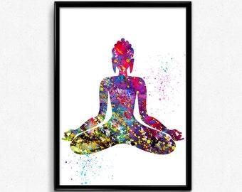 Meditating Buddha, Spirituality,  Poster, Room Decor, gift, print, wall art (140)
