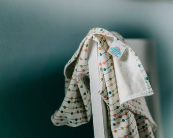 small | confetti | organic cotton t-shirt hair towel