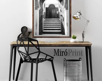 Black and White Photography, Morocco Print, Morocco Decor, Travel Print, Moroccan Architecture Print, Moroccan Photo, Morocco Wall Art Print