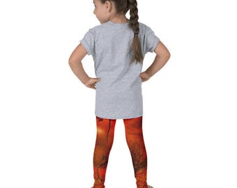Kid's fall leggings, Autumn leggings