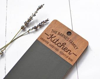 Kitchen Chalkboard - Mini Chalkboard - Custom Blackboard Tablet Kitchen Planner - Housewarming Gift Wedding Gifts Family Planner To Do List