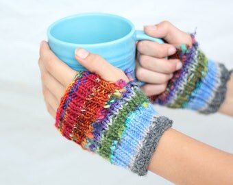 Kids Rainbow Mitts