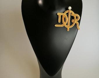 Christian Dior Vintage Brooch DIOR Monogram