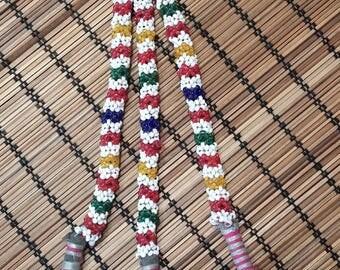 Vintage Kuchi Beaded Tassels Gypsy Belly Dance, Tribal Fusion, ATS Costume Hair Belt Decoration
