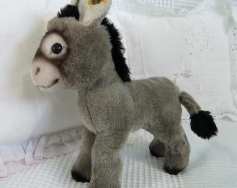 STEIFF Donkey, little gray donkey