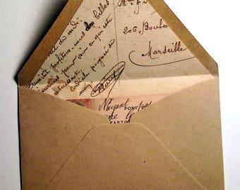 Postcard lined envelopes