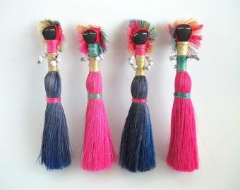 Folk Art Dolls, Primitive Straw Doll, Vintage Caribbean