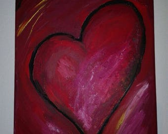 Acrylic/painting/romantic/Heart/Love/painting/art