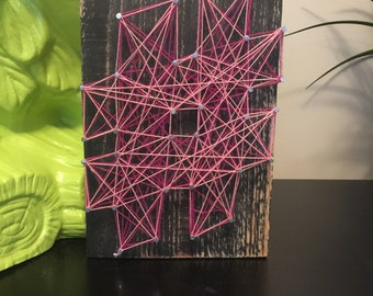 Hashtag String Art on Upcycled Pallet Wood