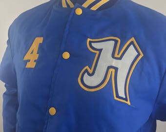 Vintage Holloway Blue and Gold 4H Club Embroidered Jacket/Made in USA/Size Medium
