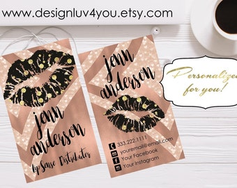 LipSense Business Card | Lipsense Distributor Card | Make up Business Card | LipSense Printable | Business Card | 2x3.5 *DIGITAL FILE ONLY*
