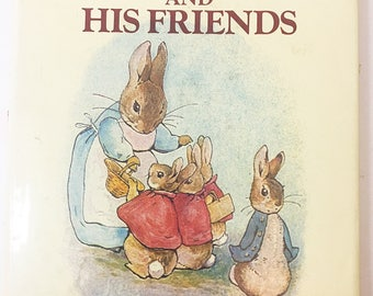 Tales of Peter Rabbit and his Friends.  Vintage book from 1984 written by Beatrix Potter.  Crown Publisher.  Book lover gift