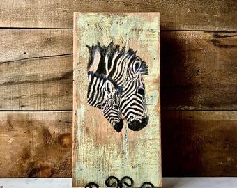 ZEBRA WALL ART   Safari Nursery   African Decor   Zebra Decor   Zebra Art