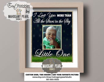 """Personalized """"I Love You More"""" Poster Printables 