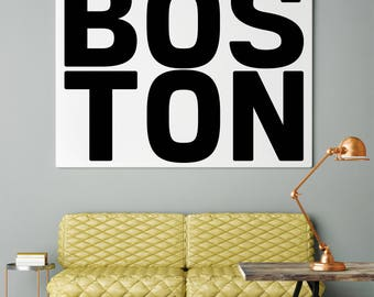 Boston, Printable Wall Art, Modern Home Decor, Boston ma, Boston Massachusetts, Typography Poster, Boston Posters, Boston Art Print, Print